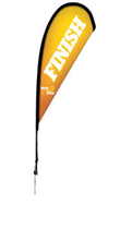 Picture of 6' Tear Drop Flags Single Side