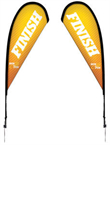 Picture of 11.5' Tear Drop Flags Double Side