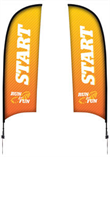 Picture of 13' Razor Flags Double Side