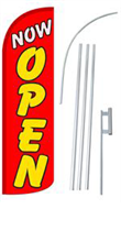 Picture of Now Open Red Yellow Letters DLX