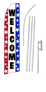 Picture of Welcome Red White Blue
